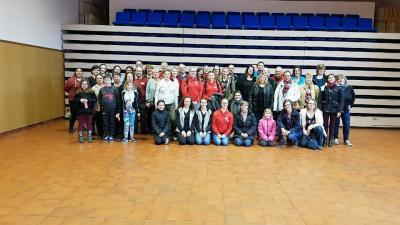 Photo de groupe avant depart francais allemand 2 3