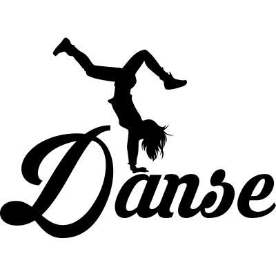 Sticker danse contemporaine 5 ambiance sticker kc11521